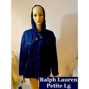 Ralph Lauren Navy Linen Hoodie Sz PL